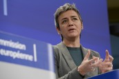 Margrethe Vestager, Member designate of the EC in charge of Competition  gives midday statement