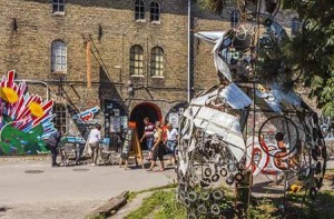 Christiania, also known as Freetown Christiania is a self-proclaimed autonomous artistic part of Christianshavn in the capital Copenhagen, Denmark. By Ed Francissen.