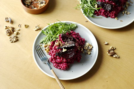 menu is the beetroot spelt with porcini mushrooms