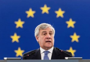 Antonio Tajani, President of the European Parliament, addresses the European Parliament in Strasbourg, France, 05 April 2017. The parliament is holding a key debate on Brexit negotiations.  ANSA/PATRICK SEEGER
