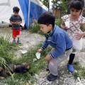 children at 1 refugee camp in serbia